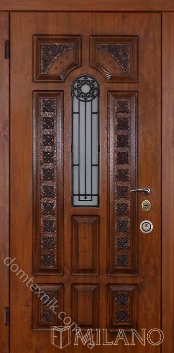 входные двери на котедж со стекло
