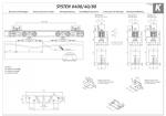 Раздвижная система+направляющая Koblenz Art.040080/G300E 80кг.